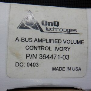OnQ Technologies 364471-03 A-Bus Amplified Volume Control Ivory