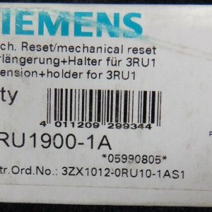 Siemens 3RU1900-1A (4 Pieces) Mechanical Remote Resets New