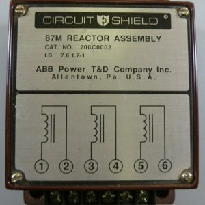 Circuit Shield 200C0002 87M Reactor Assembly ABB Power NEW