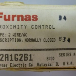 Furnas 62A1G2B1 Type 2 Wire AC Normally Closed Proximity Control Ser A NEW