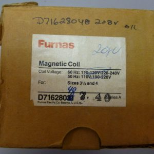 Furnas D71628048 208V Coil Size for 3 1/2 and 4 Starters NEW