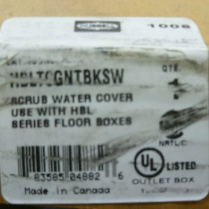 Hubbell HBLTCGNTBKSW Scrub Water Cover For Concrete Recessed Floor Box NEW