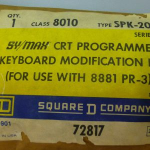 Square D 8010 SPK-200 Sy/Max CRT Programmer 8881 PR-3 Keyboard Modification Kit