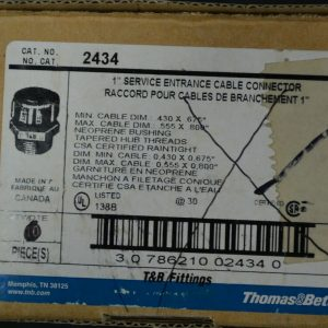 Thomas & Betts 2434 (5 Pieces) 1″ Service Entrance Cable Connector New