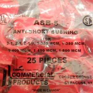 """Cooper ASB-5 Anti-Short Bushing For 1"""" – 50 Pieces (2 Bags 25ea)"""