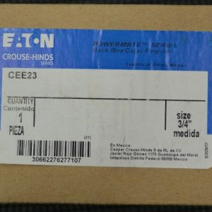 Crouse Hinds CEE23 Receptacle Back Box 30A Powermate New