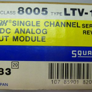 Square D 8005 LTV-101 SY/MAX Single Channel 0-10VDC Analog Module Ser A1 82083