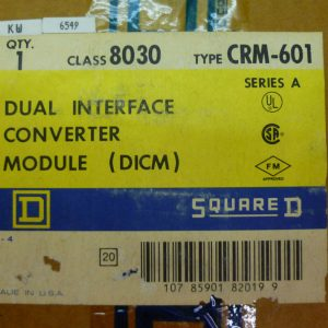 Square D 8030 CRM-601 Dual Interface Converter Module (DCIM) Series A NEW