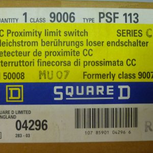 Square D 9006 PSF113 DC Proximity limit switch Formerly 9007 Ser C 04296 NEW