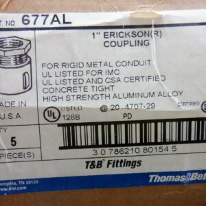 "T&B Fittings 677AL 1"" Erickson Coupling"