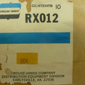 Crouse-Hinds RX012 Siemens, Murray, 5 Jaw Adaptor Meter Clip (10 Pieces) New
