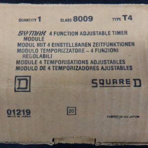 Square D 8009 T4 Type T4 Adustable Timer New