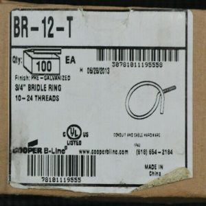 B-Line BR-12-T 3/4″ Bridle Ring (100 Pieces) 10-24 Threads New