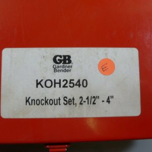GARDNER Bender KOH2540 2 1/2 to 4″ Knockout Kit KD2500B KD4000 KD3500 KD3000 NEW