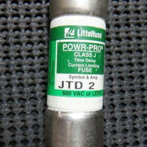 Littelfuse JTD 2 Class J 2A 600V Time Delay Current Limiting Fuse