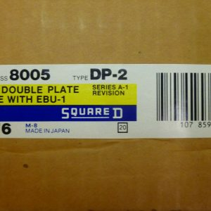 Square D 8005 DP-2 Sy/Max Symax Double Plate Use With EBU-1 Series A-1 NEW