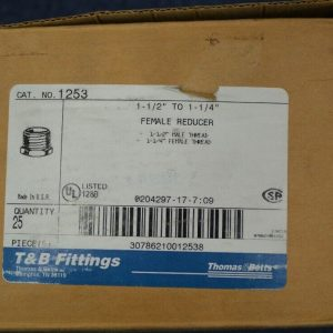 Thomas & Betts 1253 (25 Pieces) 1 1/2″ – 1 1/4″ Female Reducer New