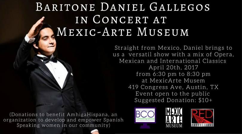 Baritone Daniel Gallegos in Concert at Mexic-Arte Museum