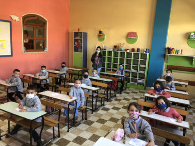 Training of Syrian refugee students at the schools of Our Lady of the Consolata in Tanaïl, in Jdita and at St-Elies School in Taalabaya (Jesuit Schools of Békaa) – 2021