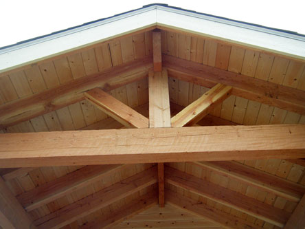 Custom wooden beam work