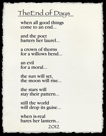 The End Of Days Poem