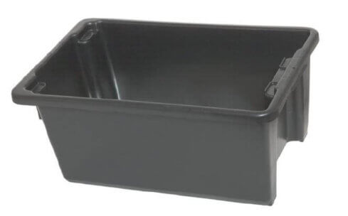 Black Plastic Drink Tub -0