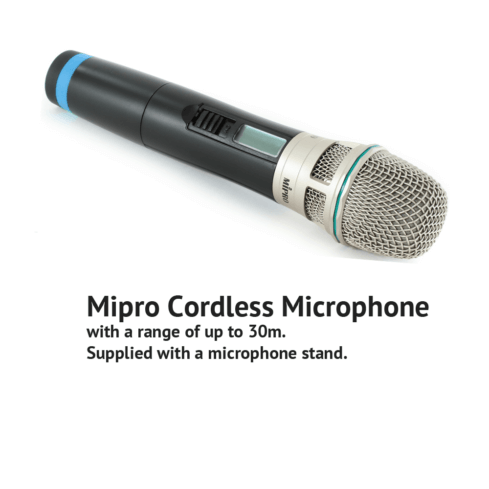 Cordless Microphone for Wedding Speeches. Mipro ACT30H Microphone.