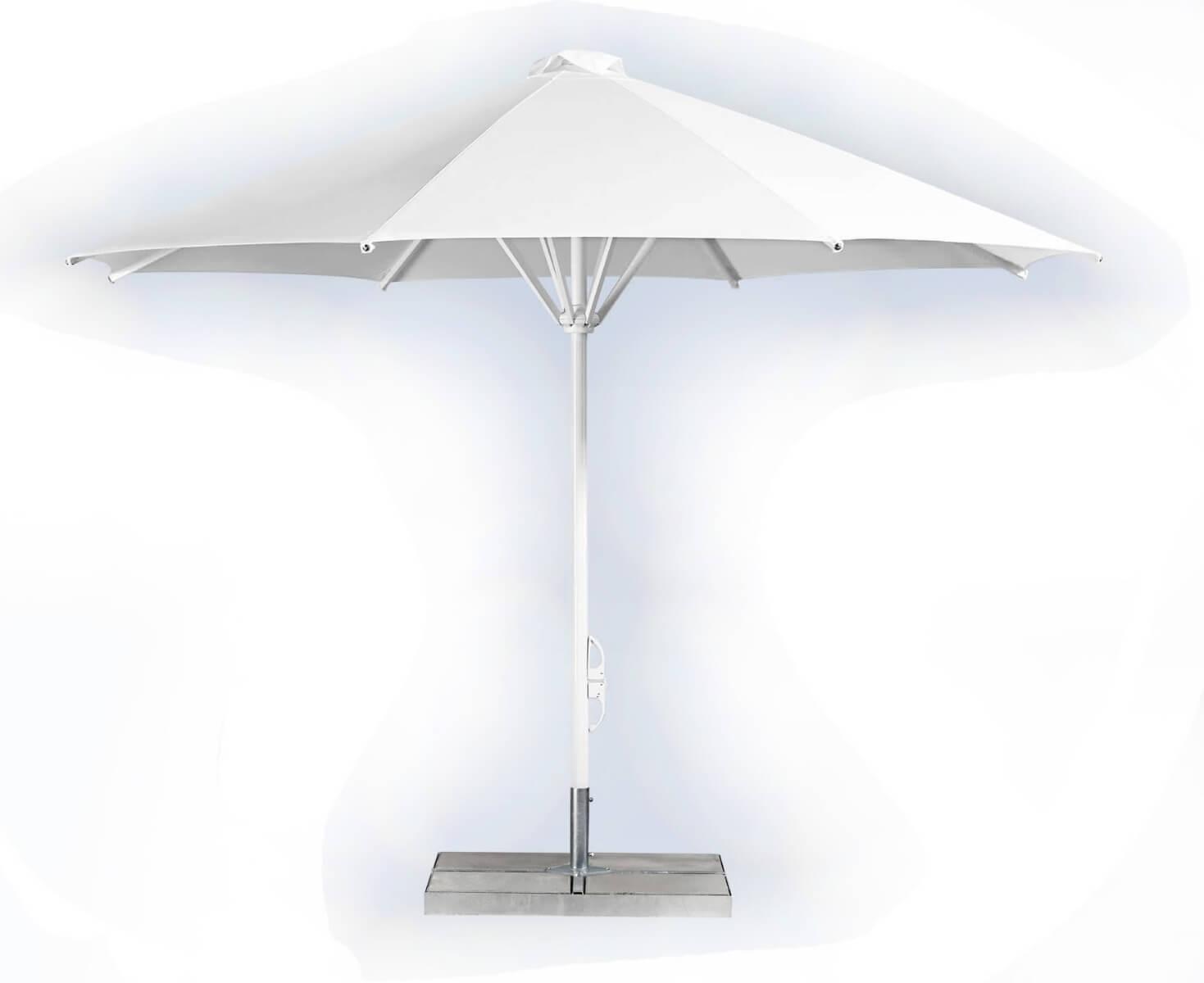 Large shade umbrella with base -0