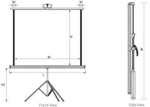 Tripod Screen 6' x 6' -579