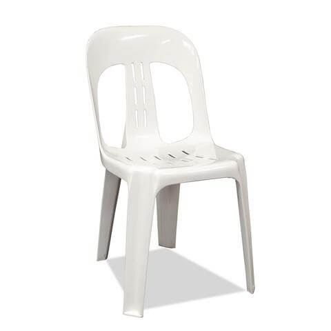 White Garden Chair (plastic) *-0