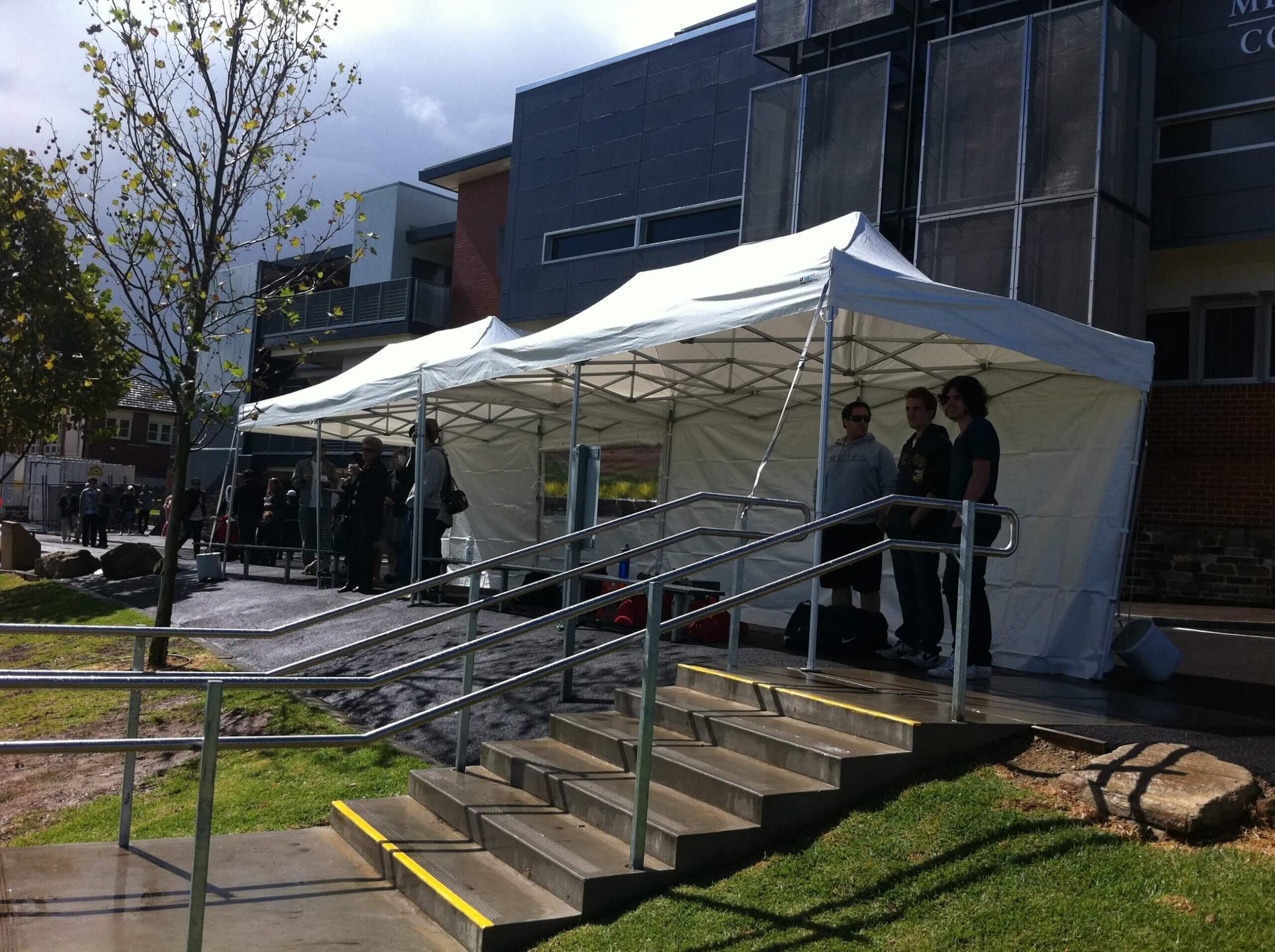 2 marquees at sportsday