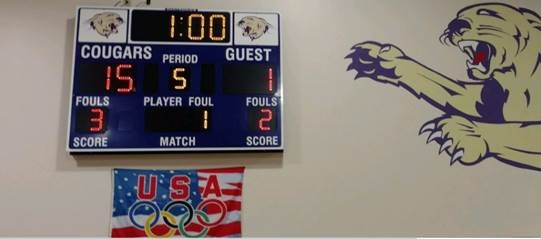 Vball win over Howard scoreboard