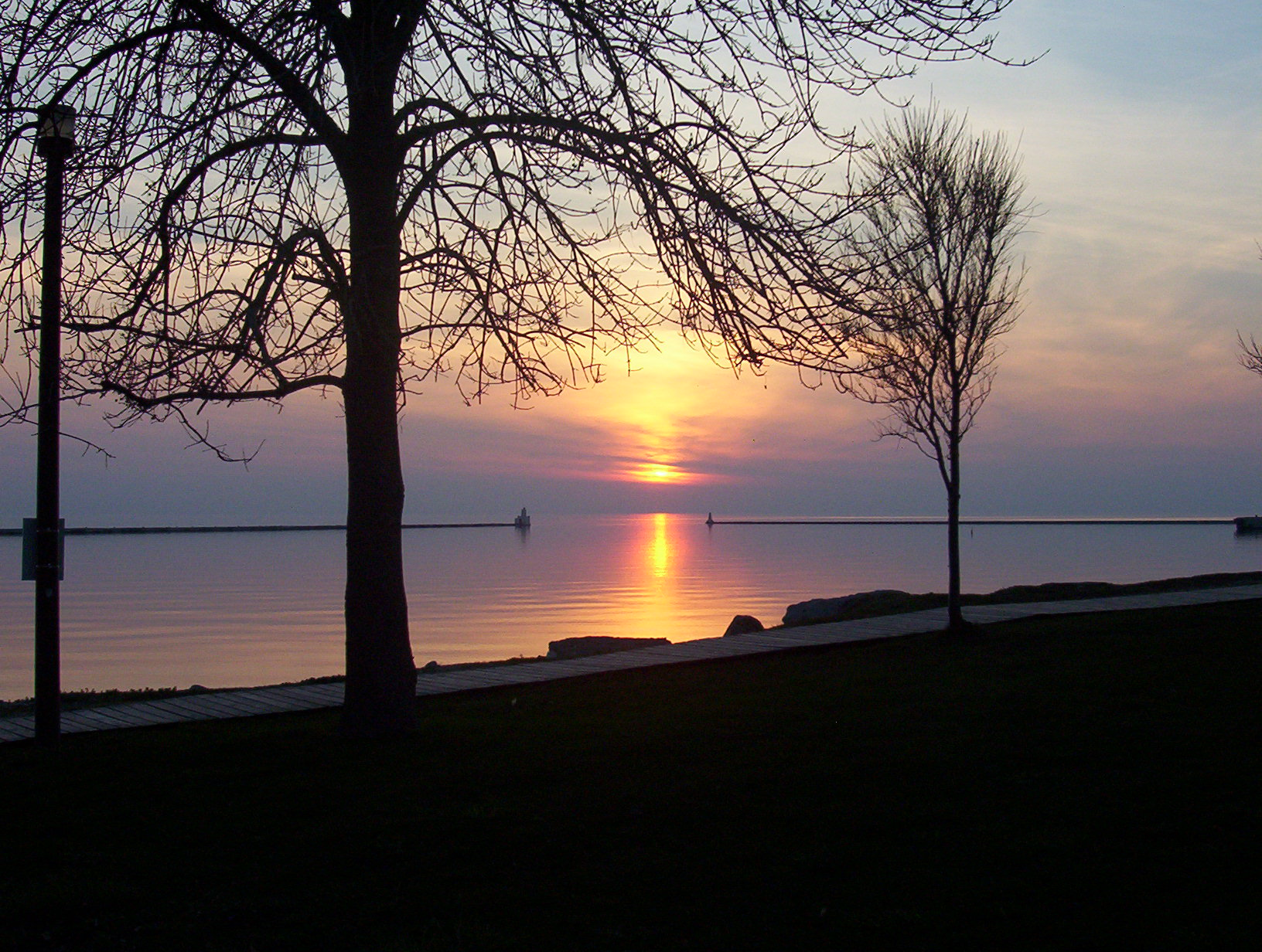 Goderich Harbour Sunset