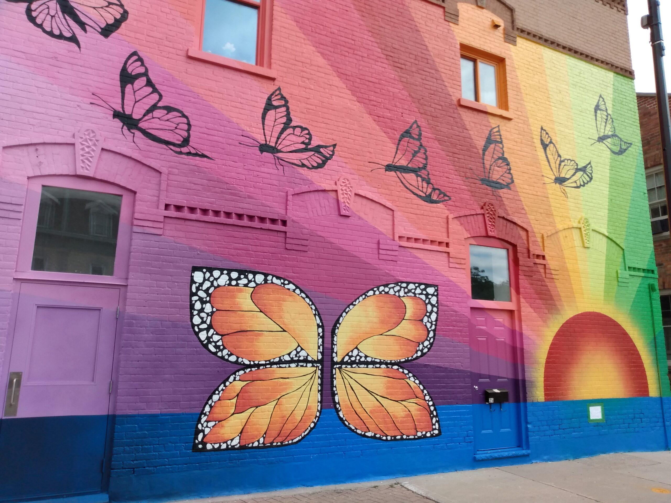 Butterfly Mural in Goderich