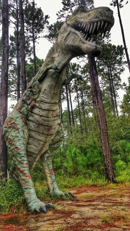 dinosaurs in the woods elberta alabama gulf shores