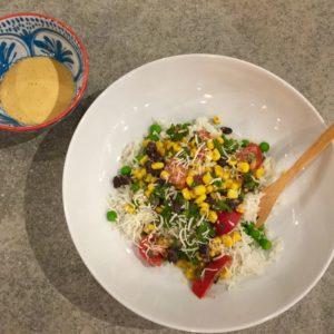 East Meets West Roasted Corn Salad