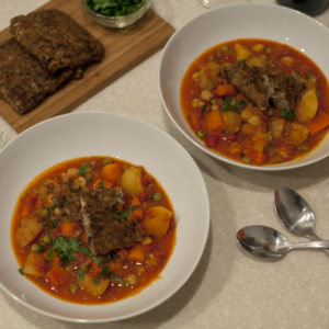 Hearty Hungarian Tempeh And Potato Stew