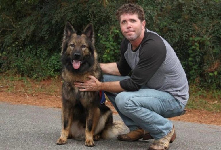 Jason Redman and Service Dog