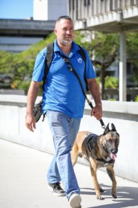 Ozzie Martinez and Service Dog