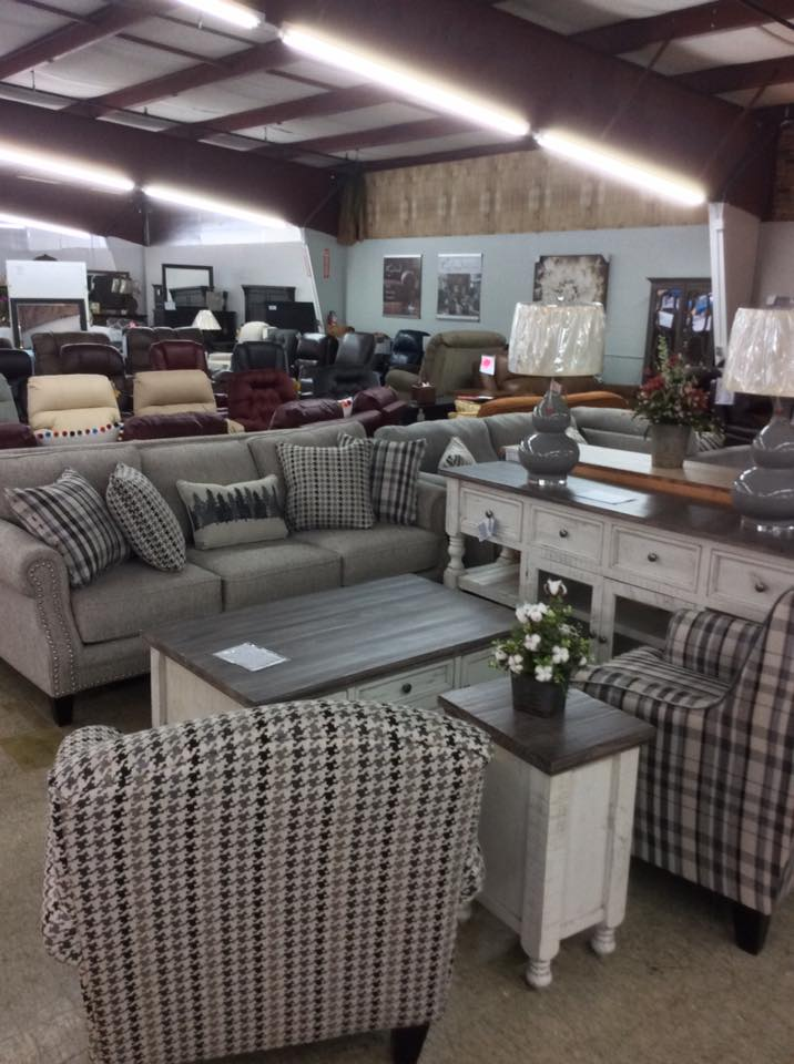 sofa set with houndstooth and plaid patterns