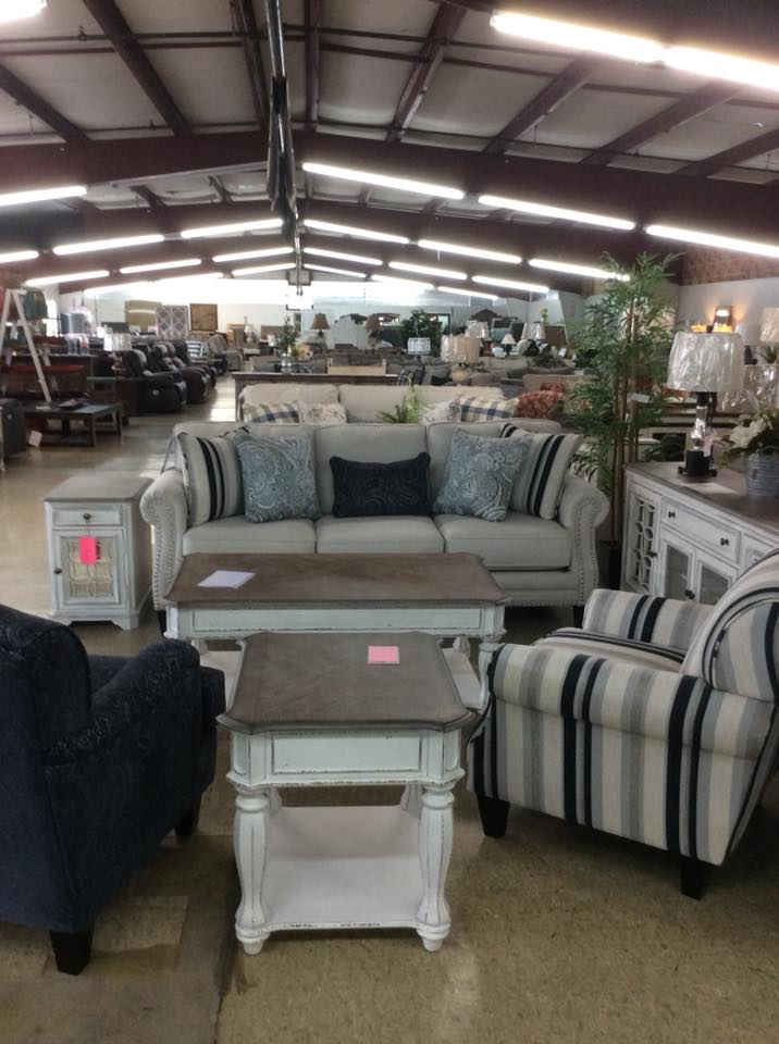 living room furniture set with blue and white theme