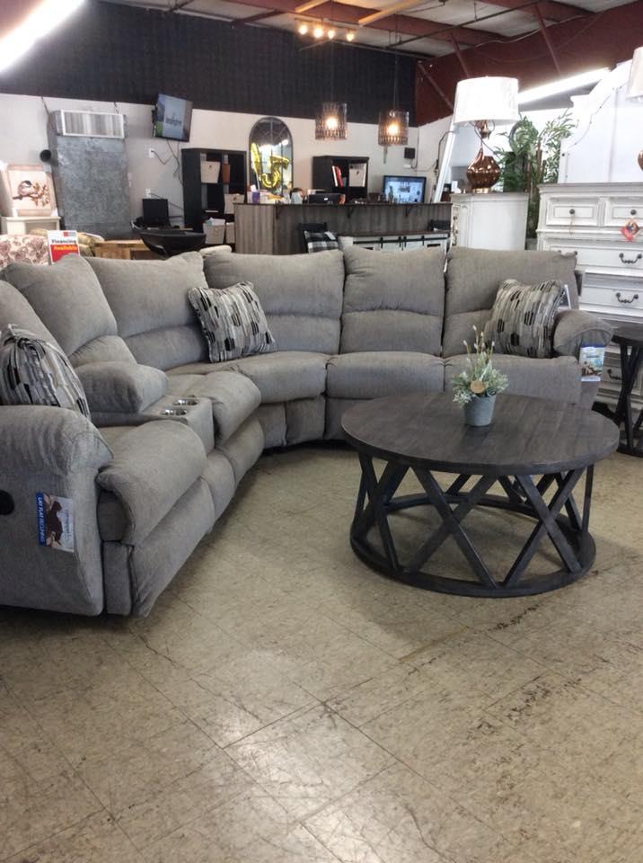 gray-themed living room furniture set