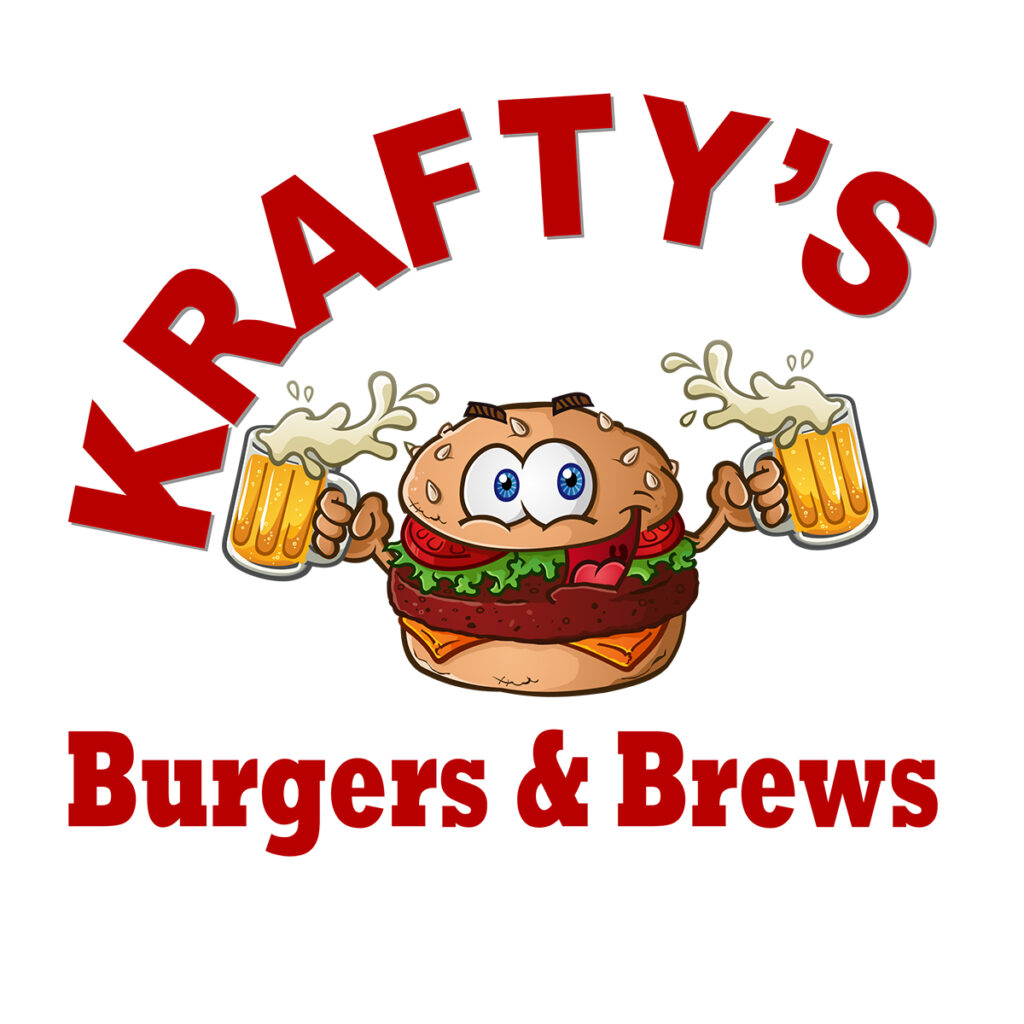 Hamburger cartoon logo