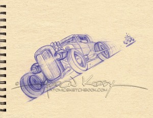 Hot Rod sketch by Aaron Kirby