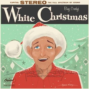 White Christmas album cover by Aaron Kirby