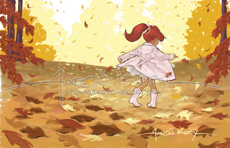 book illo (Fall Days by Aaron Kirby)