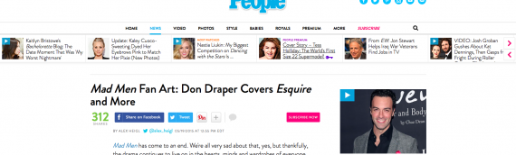 My Mad Men covers in People Magazine..!