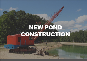 NEW Pond Construction Services by Cotter Dragline Services Mount Pleasant Michigan Mid Michigan
