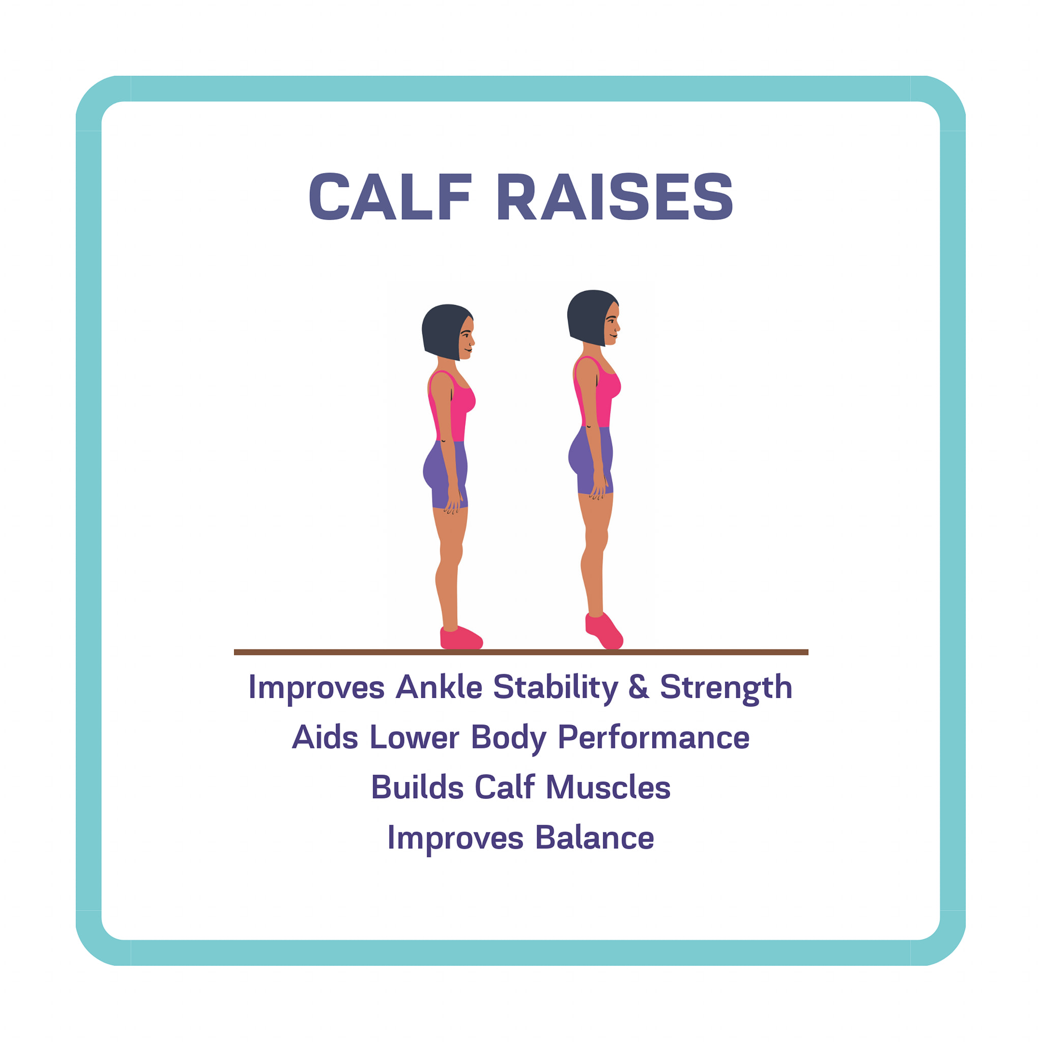 calf raises for calf muscles and lower body balance