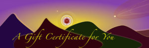Mind Body Healing Gift Certificates